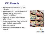 c11 records