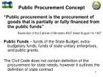 public procurement concept