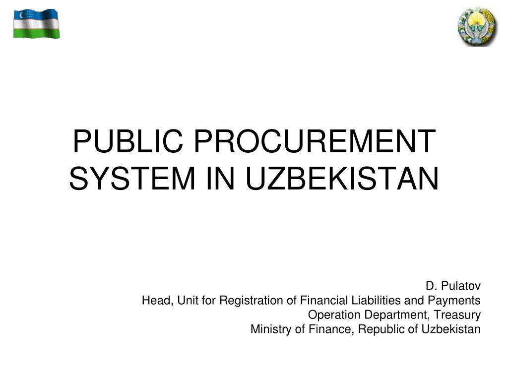 public procurement system in uzbekistan l.