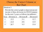 choose the correct column or bar chart21