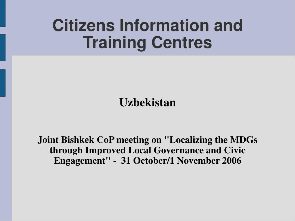 citizens information and training centres l.
