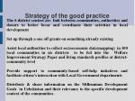 strategy of the good practice