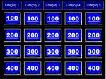 categories and amounts