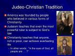 judeo christian tradition