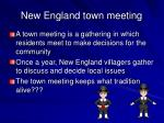 new england town meeting