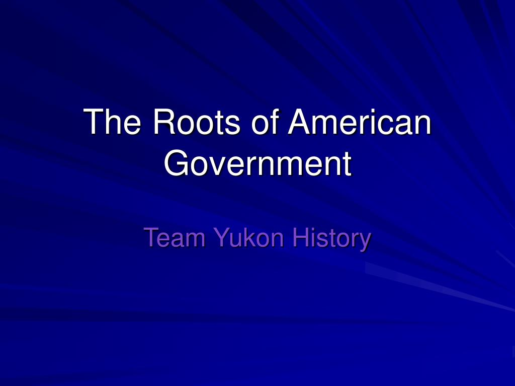 the roots of american government l.