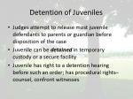 detention of juveniles