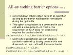 all or nothing barrier options cont1