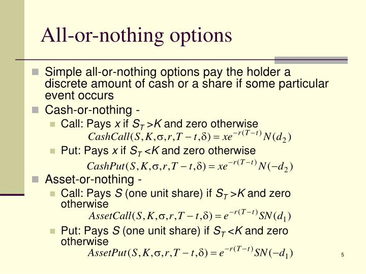 All-or-nothing options