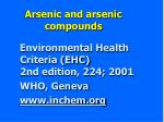 arsenic and arsenic compounds