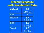 arsenic exposure with residential data