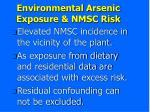 environmental arsenic exposure nmsc risk