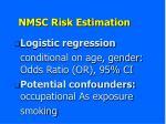 nmsc risk estimation