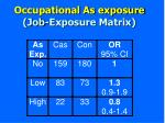 occupational as exposure job exposure matrix