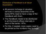 distribution of handbook to all valuer associations