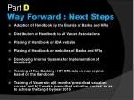 part d way forward next steps