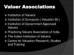 valuer associations