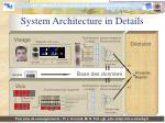 system architecture in details