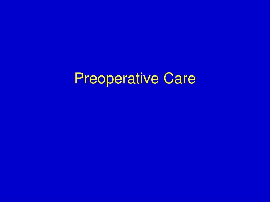 preoperative care l.