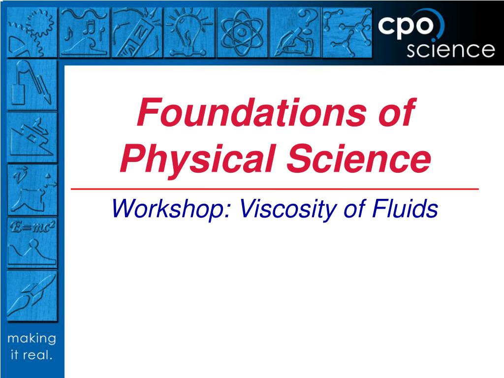 foundations of physical science l.