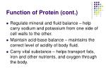 function of protein cont