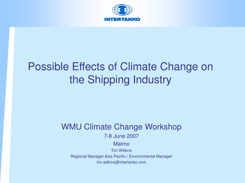 possible effects of climate change on the shipping industry l.
