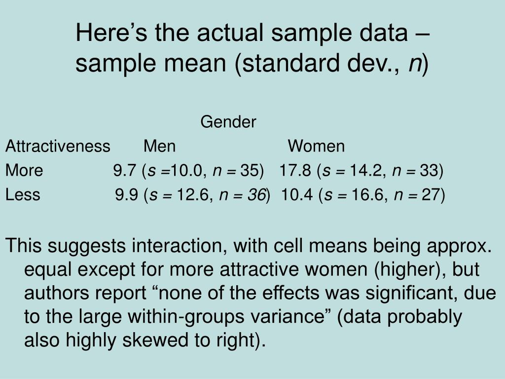 Here's the actual sample data –