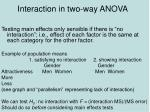 interaction in two way anova