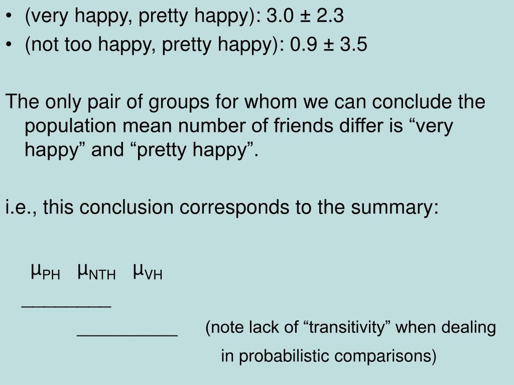 (very happy, pretty happy): 3.0