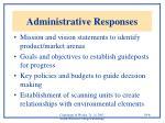 administrative responses