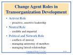 change agent roles in transorganization development