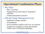 operational combination phase