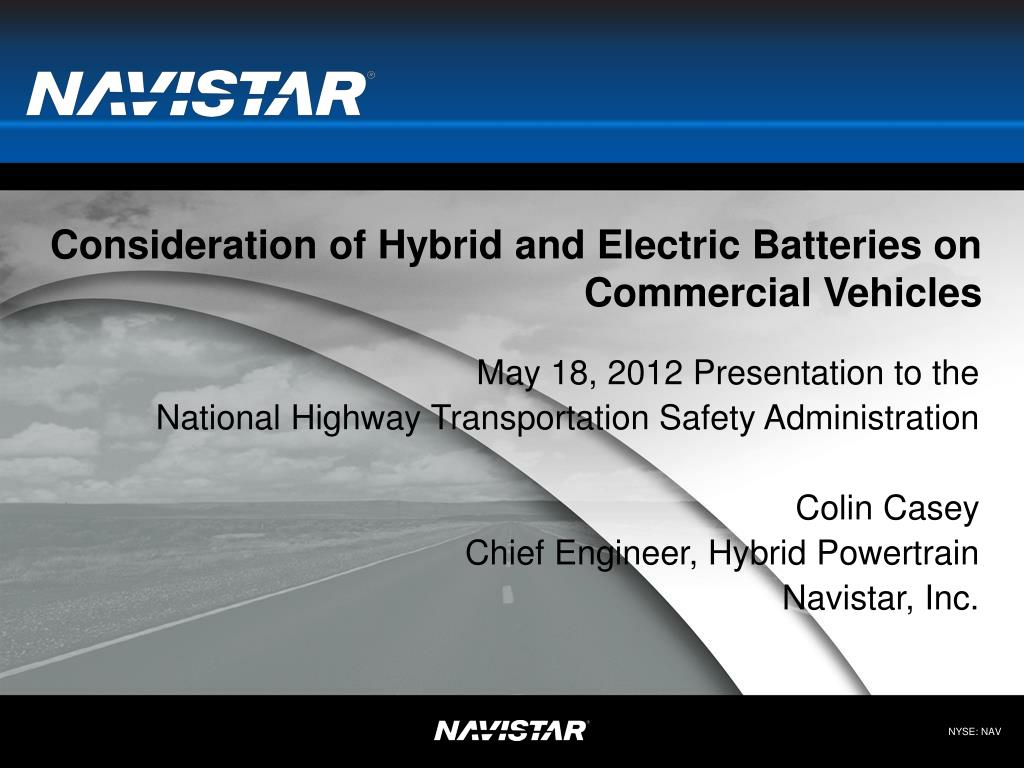 consideration of hybrid and electric batteries on commercial vehicles l.