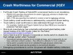 crash worthiness for commercial h ev