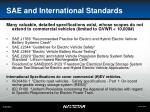 sae and international standards