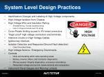 system level design practices