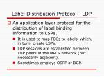 label distribution protocol ldp