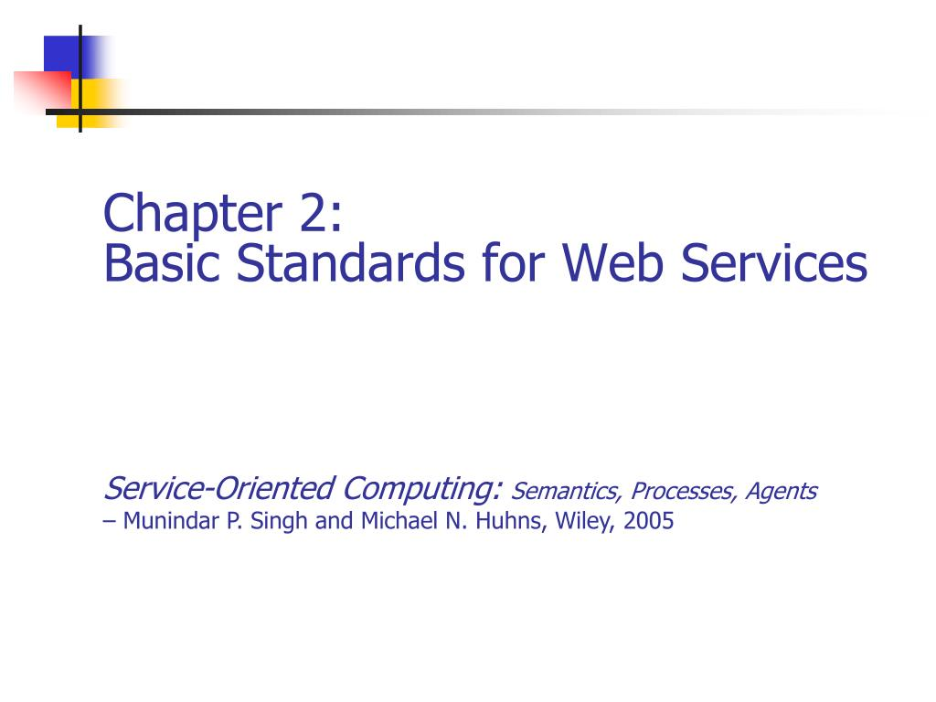 chapter 2 basic standards for web services l.