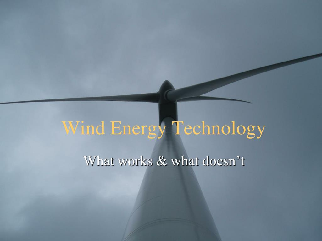 wind energy technology l.