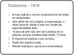 dada smo 1916