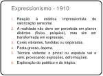 expressionismo 1910