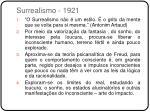 surrealismo 1921