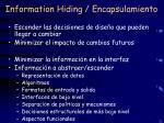 information hiding encapsulamiento