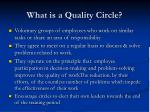 what is a quality circle