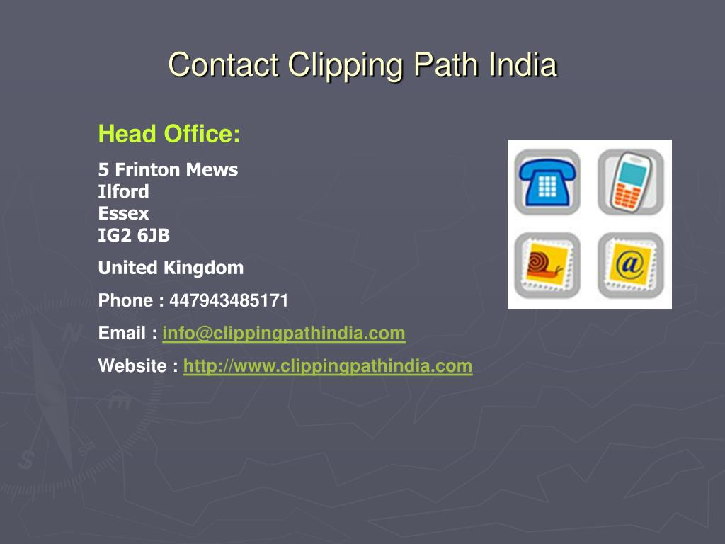 Contact Clipping Path India