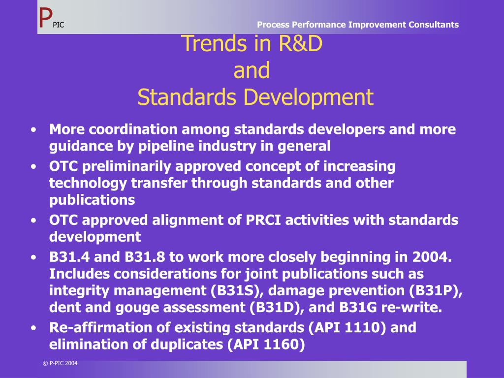 Trends in R&D