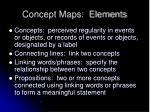 concept maps elements