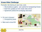 green ride challenge