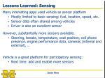 lessons learned sensing