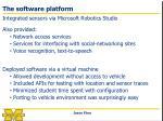 the software platform
